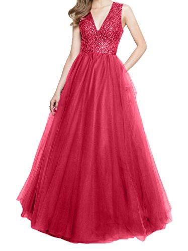 Ballkleider Jaeger Linie Promkleider Brautmutterkleider Steine Ausschnitt Rot Gruen Charmant A V Abendkleider Damen w1qyx0Ff5O