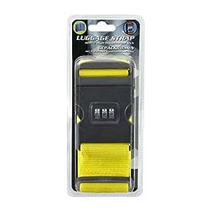 Maleta equipaje de bandas correas para correas 3unidades color: amarillo con candado