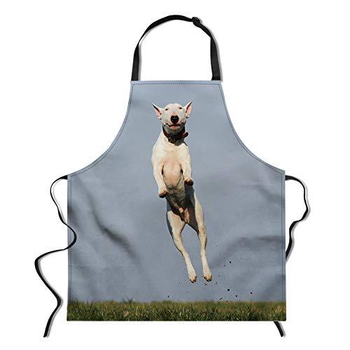 Mens Apron, Long-Lasting Apron, Adjustable Bib Apron, functional kitchen Aprons, Unique Cute Dog Print Product Size 26.3