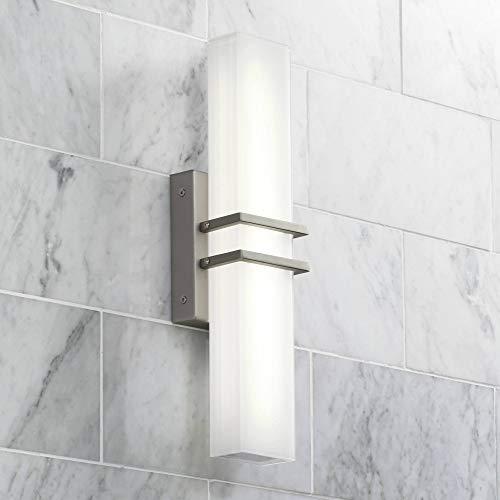 Exeter Modern Wall Light LED Brushed Nickel 17