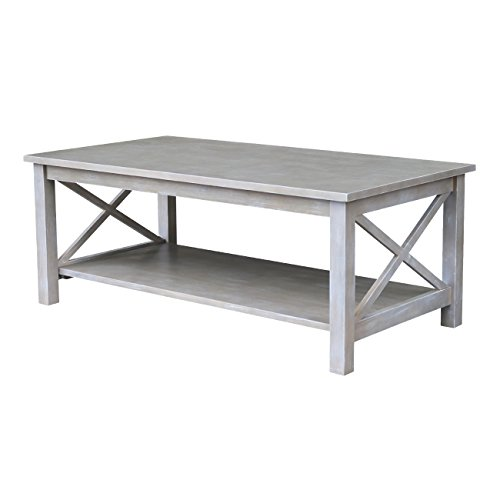 (International Concepts OT09-70C Hampton Coffee Table, Washed Gray Taupe )