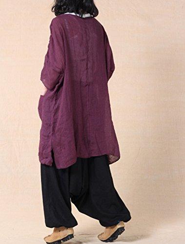 Voguees - Camiseta - Túnica - para mujer morado