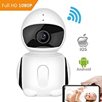 WiFI Security Camera, IKARE 1080P Indoor Security Camera for Baby, Surveillance Remote Monitor with Night Vision, Motion Detection, Pet Cam with iOS/ Android App, 2-Way Audio, Support Micro SD Card