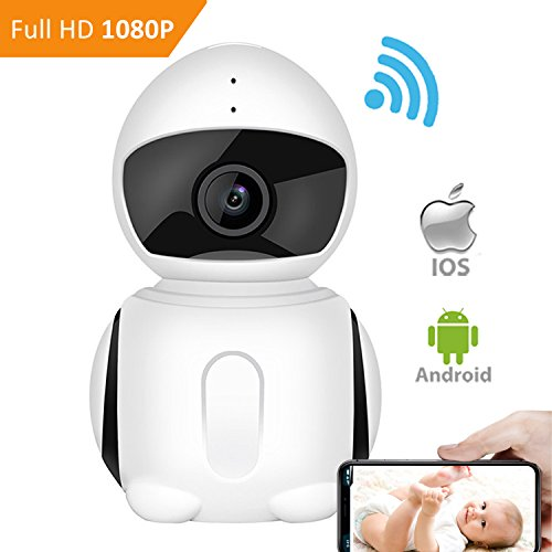 414lGytejEL - WiFI Security Camera, IKARE 1080P Indoor Security Camera for Baby, Surveillance Remote Monitor with Night Vision, Motion Detection, Pet Cam with iOS/Android App, 2-Way Audio, Support Micro SD Card