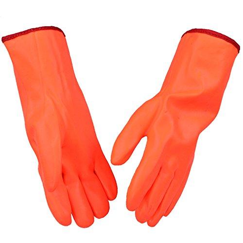Wall of Dragon waterproof fleece lining warm keeping safety glove low temperature below -10 degree resistant work gloves nutrile