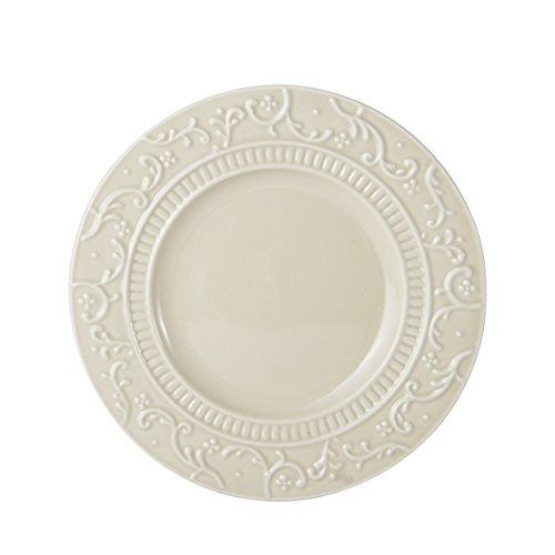 Mikasa Italian Countryside Accents Appetizer Plate, Scroll Beige ()
