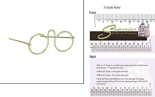 Dollhouse Miniature 1 3/4 In Eyeglasses, - Eyeglasses Sizes