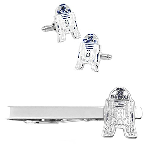 Outlander R2-D2 Cufflink & Tiebar - New 2018 Star Wars Movies - Set of 2 Wedding Logo w/Gift Box by Outlander