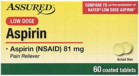Assured 81mg Enteric-coated Aspirin, 60 Ct