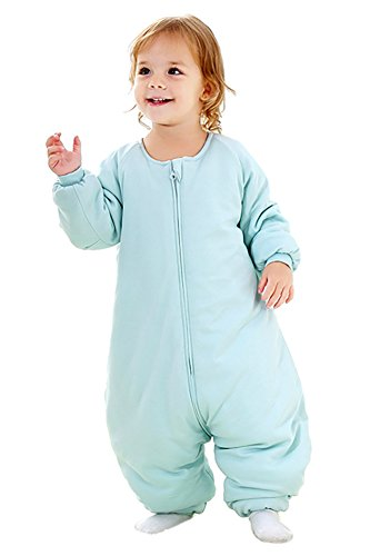 Baby Sleep Sack with Feet Winter, Early Walker Wearable Blanket with Legs for Toddler, Infant Warm Sleeping Bag with Long Sleeve Thicken 2.5 TOG (18-36 Months, Medium)