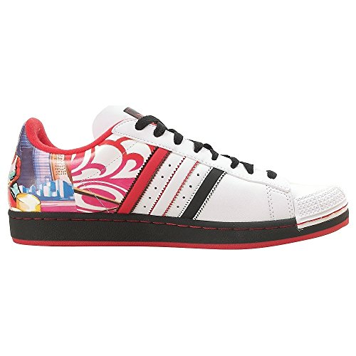 Adidas Halfshells Lo Chicago Men's Sneakers Size US 12, Regular Width, Color Black/Red/White