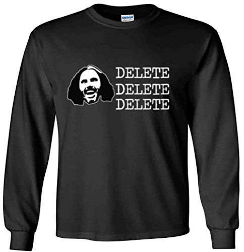 The Silo LONG SLEEVE BLACK Matt Hardy WWE ''DELETE'' T-Shirt ADULT by The Silo