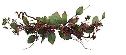 24'' Berry Green Swag Artificial Silk Wedding Flowers Home Party Decoration (Dark Mauve) by Wedding Flowerw