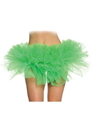 Female Boxer Fancy Dress Costumes (Underwraps Women's Tutu Green One Size)