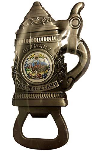 Oktoberfest Beer Stein Magnet Germany Metal Bottle Opener