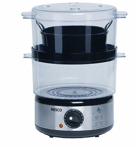 Bon Nesco ST 25P 5 Quart Food Steamer, 400 Watts