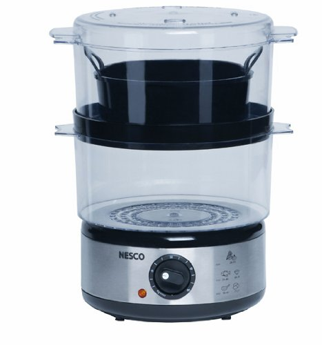 Nesco ST-25P 5-Quart Food Steamer, 400 watts