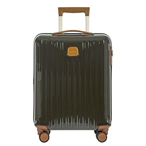 Bric's Capri 21 Inch International Carry on Spinner, Olive Shiny by Bric's