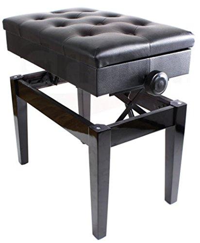 Premium Adjustable Antique Piano Bench By Griffin Black