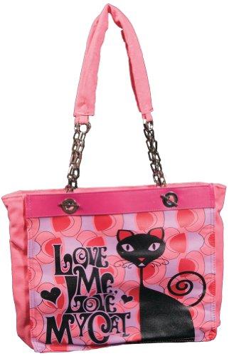 Calico Dragon Love Me Love My Cat Peace Love Adopt Vegan Shoulder Bag Purse, Bags Central