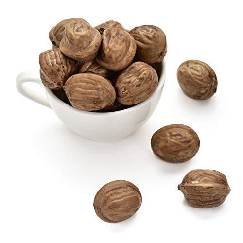 Hagao Artificial Nuts Small Walnut Simulation Fake Lifelike for Home Kitchen Festival Decoration Teaching Aids-50 - Nut Walnut