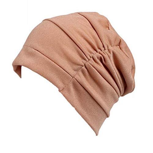 (Women Knitted Skull Cap Winter Beanie Hats Turban Wrap Cotton Warm Casual Hat)