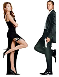 Angeline Jolie sexy dress full length with Brad Pitt in Mr. & Mrs. Smith 24x36 Poster