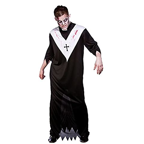 Halloween Zombie Priest Mens Fancy Dress (Priest Costume)