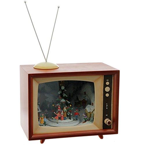 Raz Imports 15'' Animated Holiday Musical Retro TV by RAZ Imports