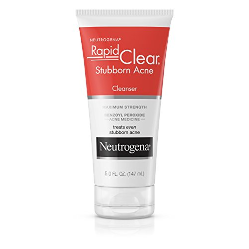 Neutrogena Rapid Clear Stubborn Acne Facial Cleanser with Benzoyl Peroxide Acne Medicine, 5 fl. oz