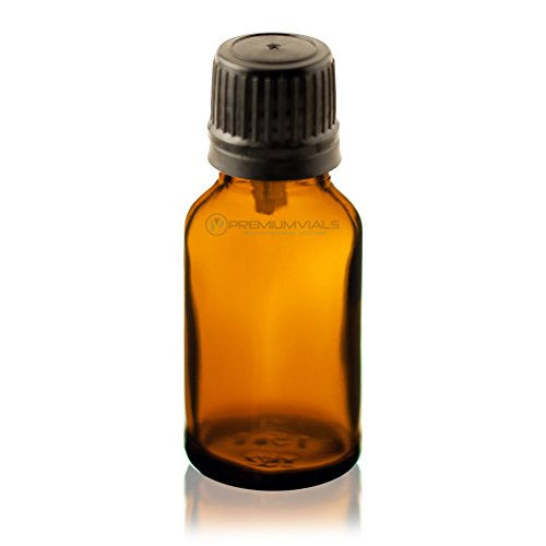 Glass Amber Bottles with Euro Droppers 20 ml - pack of 12