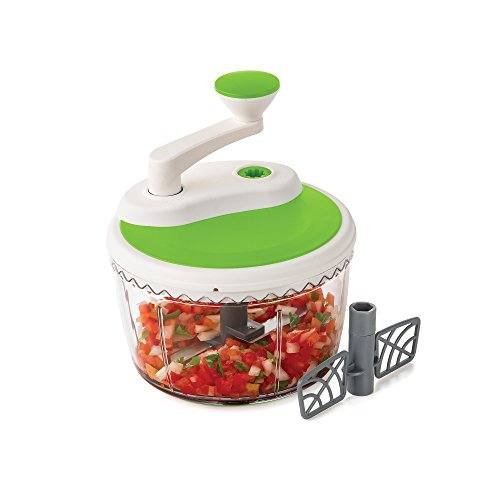 Prepworks by Progressive Dual Speed Chop & Whip, Two Speed Settings, Non-Skid Base, Whip Cream, Dressings, Mincing Onions, Salsa, Mixer, Vegetables, Coleslaw by Progressive International (Image #6)'