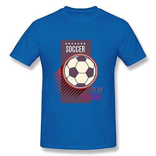 Men Play The Soccer Game T-shirt,RoyalBlue T Shirt By HGiorgis XL RoyalBlue