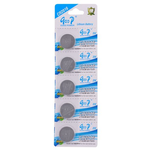 5 Pcs Set CR2016 3V 75mAh Button Cell Lithium Battery