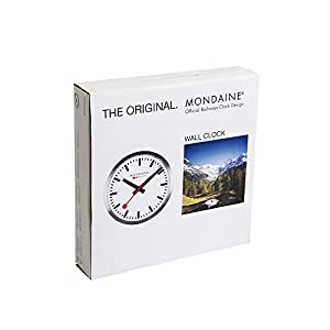 Mondaine Reloj Pared Moderno en Color Rojo, A990.Clock.11SBC, 25 CM 4