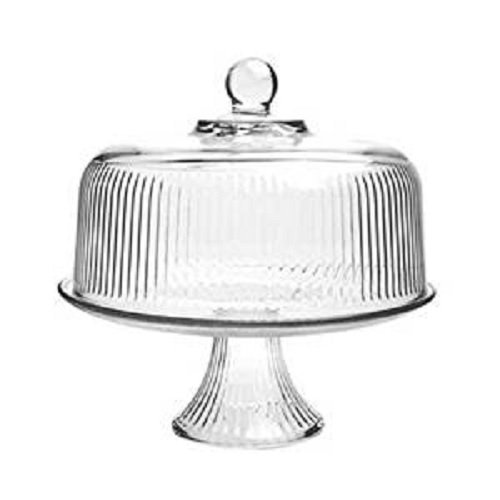 Anchor Hocking 86031L13 Ribbed Dome Cake Set, Crystal