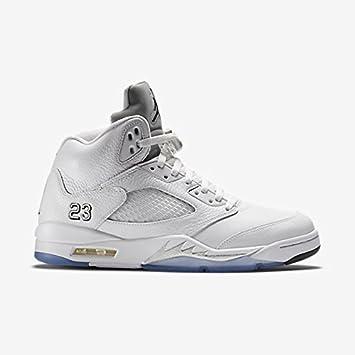 sports shoes fbc7b 46856 ... australia nike air jordan 5 retro metálico plata blanco 136027 130  remasterizadas tamaño 10 cd055 61b88