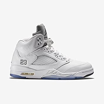 huge selection of 508dd 26593 Nike Air Jordan 5 Retro Metallic Silver White 136027-130 Remastered Size 10   Amazon.co.uk  Sports   Outdoors