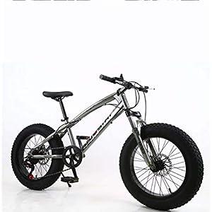 414lN8J%2Bd0L. SS300 AISHFP Fat Tire Mens Mountain Bike, Doppio Freno a Disco in Acciaio /-Alto tenore di Carbonio Telaio Cruiser Bikes…