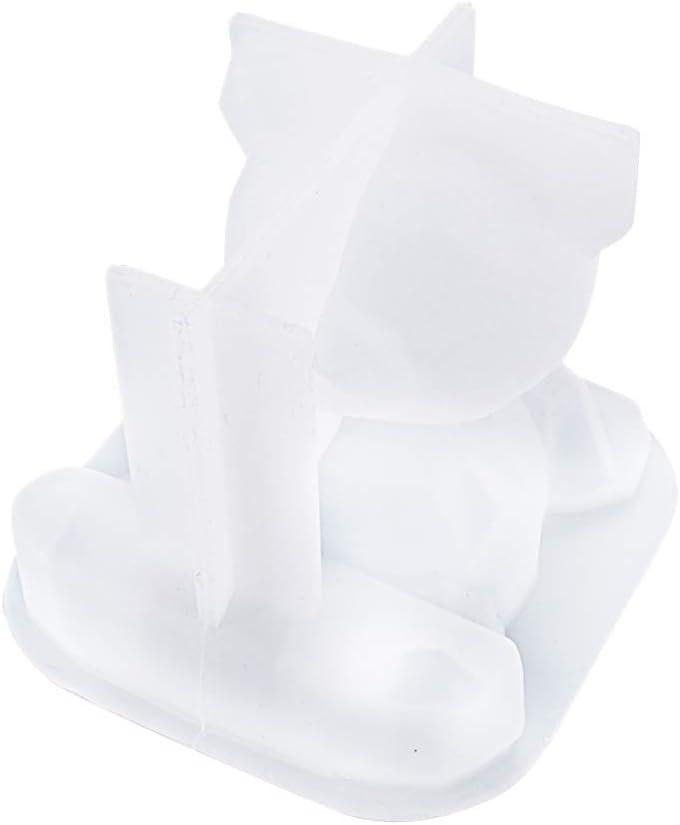 Lynn Supporto 3D a forma di orso in silicone in resina epossidica