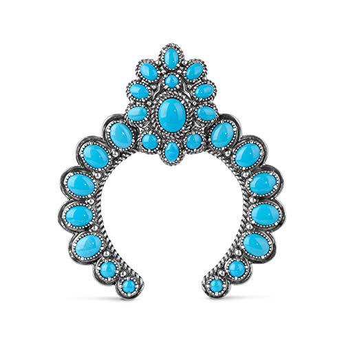 American West Sterling Silver & Sleeping Beauty Turquoise Naja Pendant ()