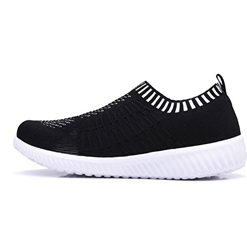Athletic Tenis5 Lightweight Mesh US On Black Black Breathable Walking Running Women Shoes Slip 's 6701 KONHILL Casual EXqxH7wn