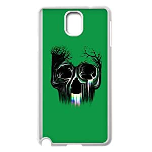 Samsung Galaxy Note 3 Cell Phone Case White Life Flowing SKull custom phone cover ggjc7241412