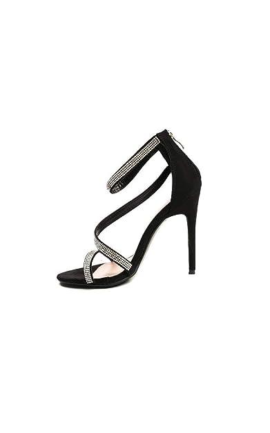 Femmes: Chaussures Ikrush Womens Diana Diamante Broche Satin Talons