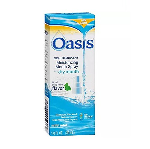 - Oasis Moisturizing Mouth Spray for Dry Mouth, Mild Mint - 2pc