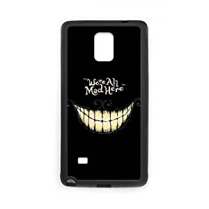 Customized We are all mad here Cell Phone Case for Samsung Galaxy Note 4 with Cheshire Cat Smile Face yxuan_4219365 at xuanz