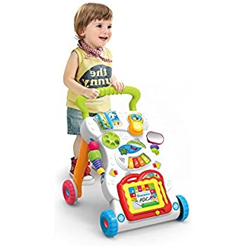 Haehne Sit-to-Stand First Steps Baby Activity Walker, Multiple Pattern, Sit & Play, Music Piano, Stand & Walk, Learning Toy, Intelligence Development
