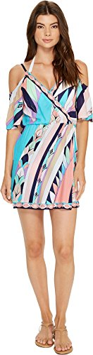 Trina Turk Women's Electric Wave Tunic Swim Cover Up Multi M by Trina Turk