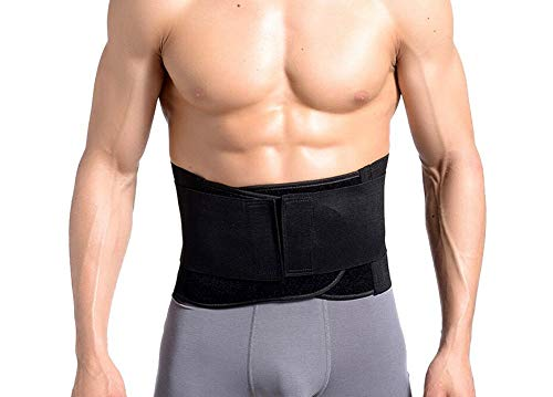 EUBUY Lower Back Brace for Men Women - Adjustable Breathable Compression Waist Training Trainer Body Shaper - Unisex Lumbar Support Belt for Lower Back Pain, Heavy Duty Lifting,Lenght 41.3 Inch