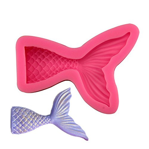 Aimyoo DIY Little Mermaid Scales Mat Mermaid Tail Molds Moulds Set Large Tail & Small Tail & Mermaid Figurine Mold 3PCS (Mermaid)